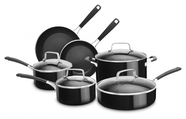 KitchenAid 10-Piece Nonstick Aluminum Cookware